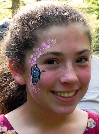Face Painting With Kathi S Klowns The Triangle S Best Clowns Face Painters And Magicians